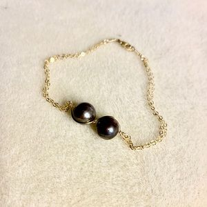 Handmade Infinity Pearl Bracelet